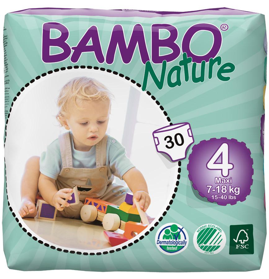 47d65ecb75e3 BAMBO Nature, Детские экоподгузники Maxi 7-18 кг, №30Артикул sl Bm-310134
